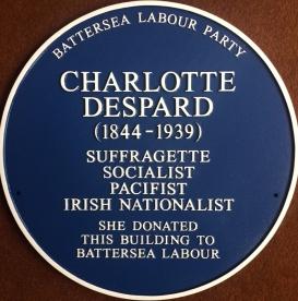 charlotte despard plaque